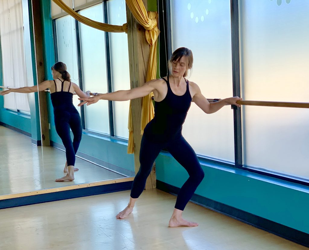 MOVE Trainer Jane at the barre