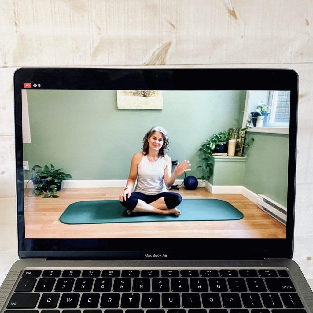Elaine Economou Teaching Pilates