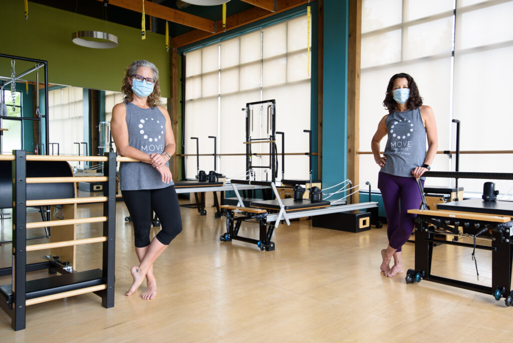 Co-Founders Elaine and Robin Wearing Masks