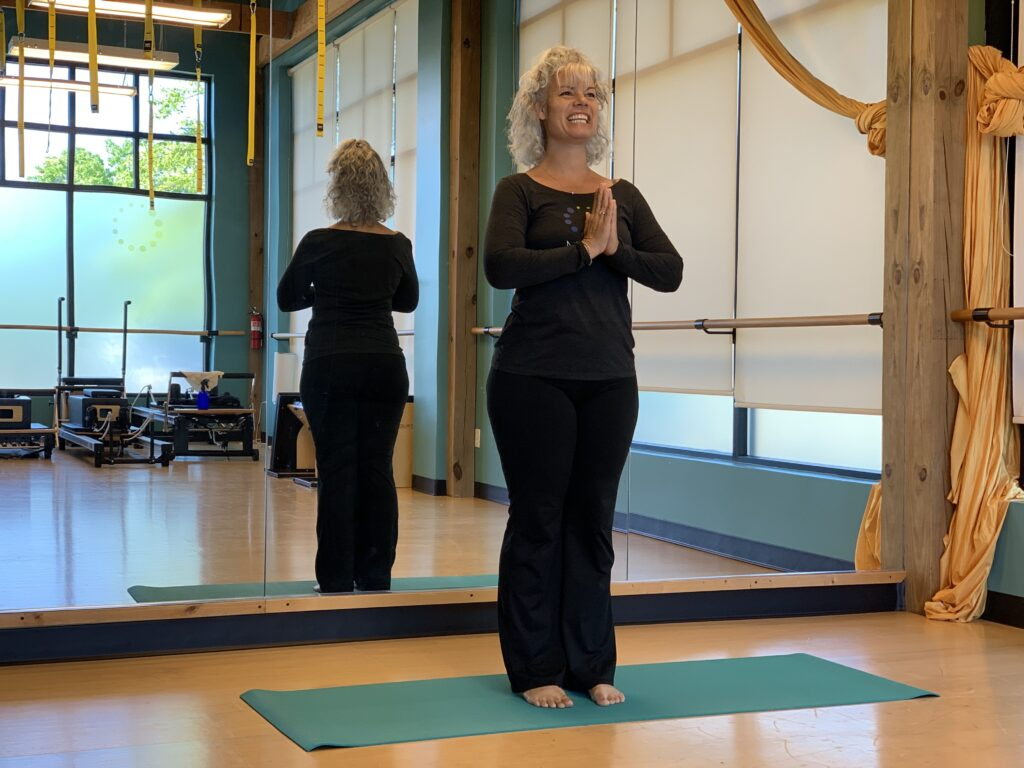 MOVE instructor Shannon Walter teaching yoga for healthy aging