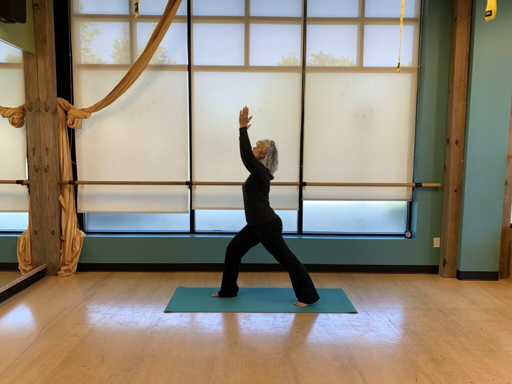 MOVE instructor Shannon teaching yoga for healthy aging